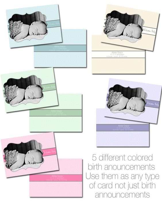 free birth announcement templates from Goldygatets Photography – Free Birth Announcement Templates Photoshop