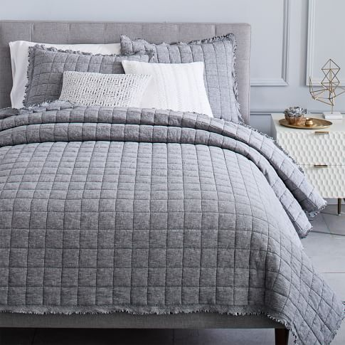 Tencel Crescent Stitch Quilt Shams Quilted Sham Quilted Coverlet Purple Bedding