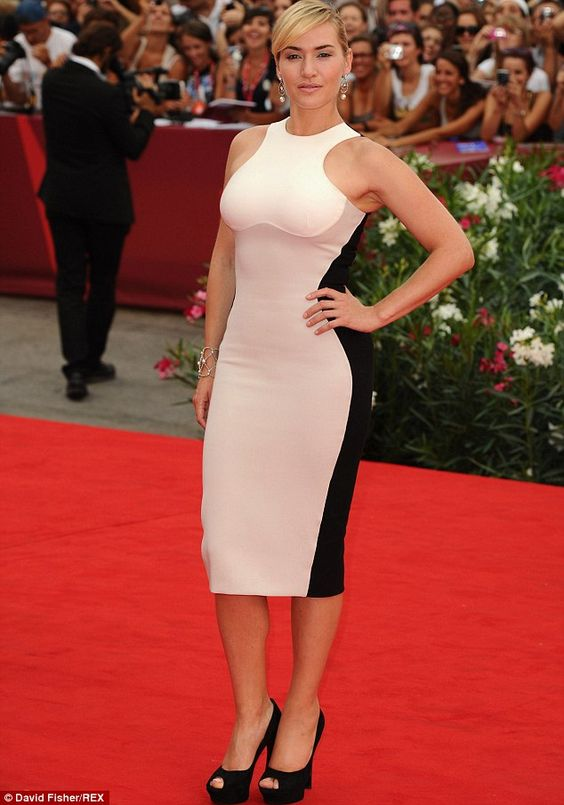 This Stella McCartney dress is almost robotically perfect on Kate, making her look toned a...
