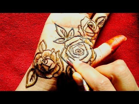 Latest Beautiful Rose Mehndi Design Simple Mehandi Design Beautiful Rose Heena Design Youtube Di 2020 Mehndi Designs Desain Henna