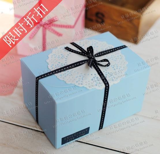 Frete grátis atacado 10pcs/lot de bolo de papel do pacote, caixa de bolo caixa de biscoitos 15.5x10x9cm