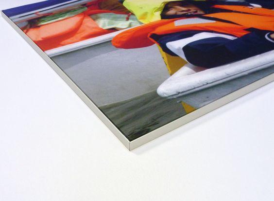 Bilderrahmen mit Fotodruck auf Stoff