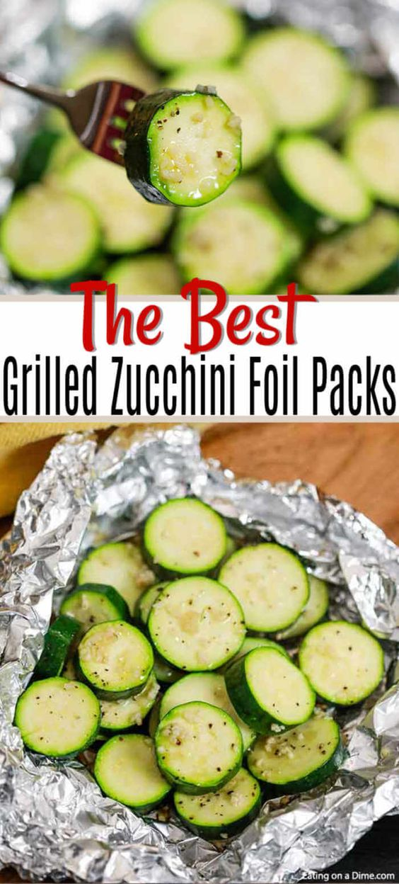 Grilled Zucchini Foil Packs