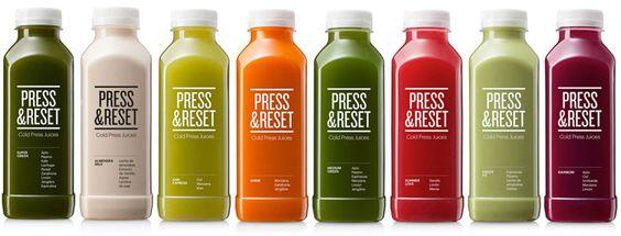 Los zumos Press&Reset se elaboran por presión hidráulica en frío (Cold Pressed Juices) obteniendo todas las vitaminas, minerales, enzimas y nutrientes.