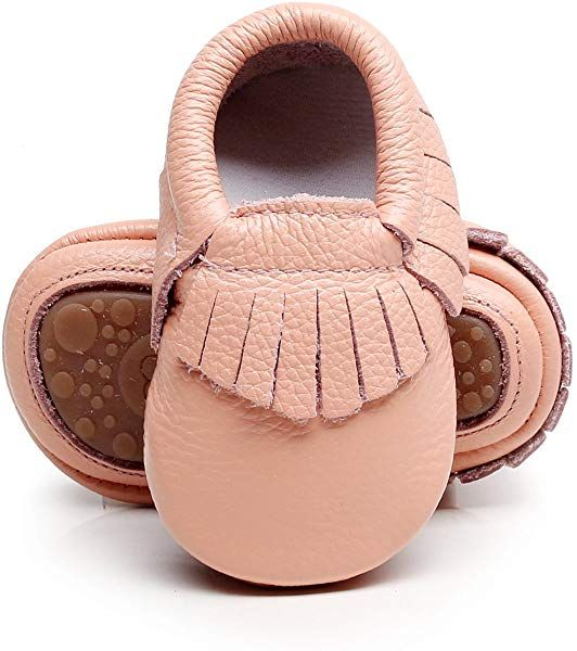 Hongteya Leather Baby Moccasins Hard Soled Tassel Crib Toddler Shoes For Boys And Gi Leather Baby Moccasins Leather Baby Shoes Handmade Baby Shoes