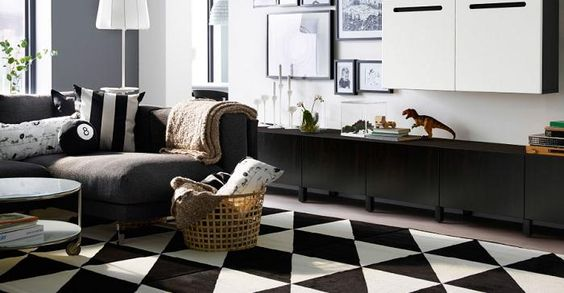 Alfombras de Ikea para un salón bonito, elegante y acogedor - mueblesueco