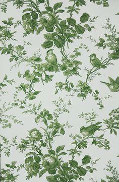 """Green """"Toile De Jouy"""" Pattern"""