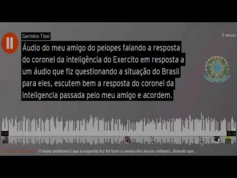 ÁUDIO DE UM MILITAR Q AVISA A NECESSIDADE DO APOIO Q ELES NECESSITAM PAR...
