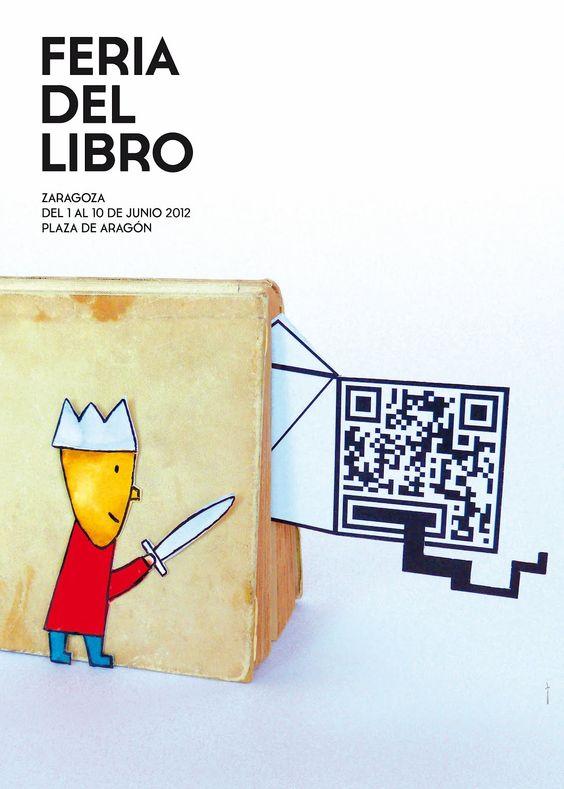 Cartel de la Feria del Libro de Zaragoza 2012: