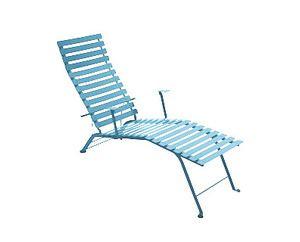 Chaise longue Bistro Bleu turquoise