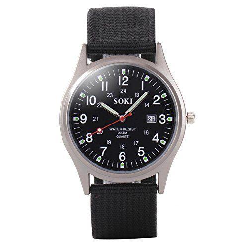 YESURPRISE Armbanduhr Damen Herrenuhr Leuchtzeiger Armband Uhr Sportuhr mit Datum Leinwand Watch Geschenk #1 - http://autowerkzeugekaufen.de/yesurprise/yesurprise-armbanduhr-damen-herrenuhr-armband-1