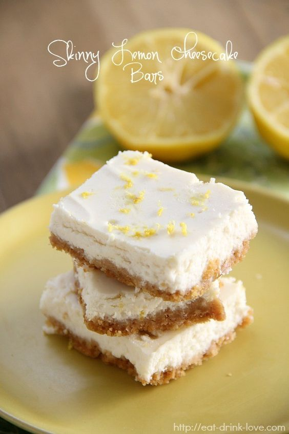 Lemon cheesecake bars, Lemon cheesecake and Cheesecake bars on ...