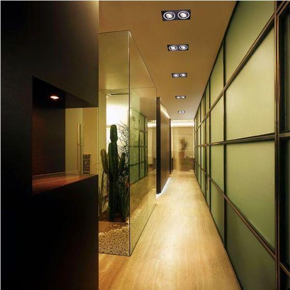Una idea perfecta para iluminar pasillos es la instalaci n - Focos pasillo ...