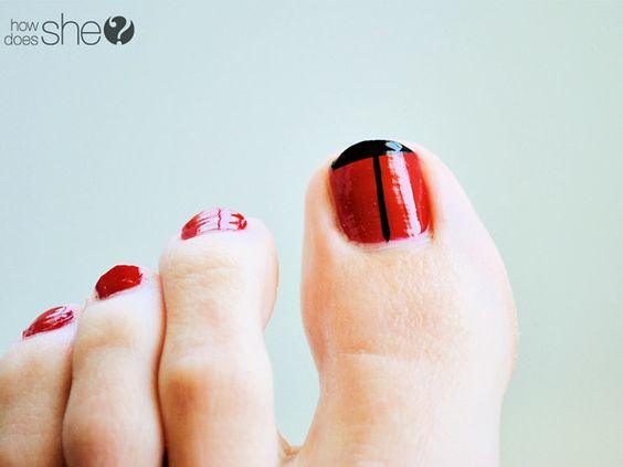 Ladybug toenails | How Does She...