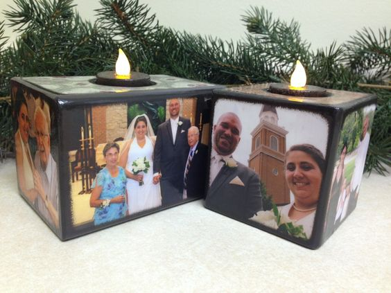 Candle Wedding Photo blocks- blocks from the heart