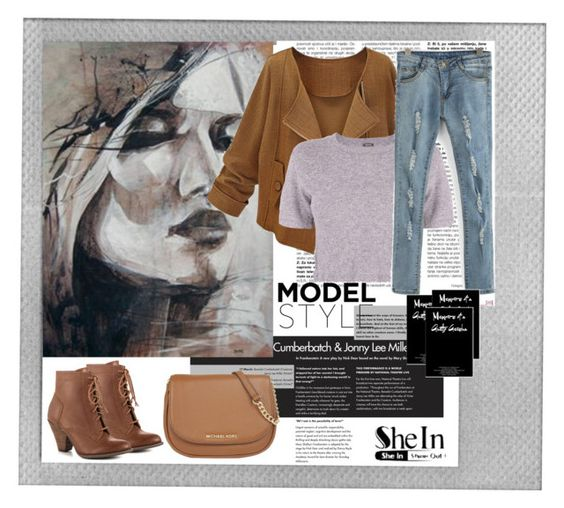 """""""SheIn"""" by klementina-r ❤ liked on Polyvore featuring Polaroid, Monrow, MICHAEL Michael Kors, Mojo Moxy, women's clothing, women's fashion, women, female, woman and misses"""