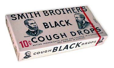 black licorice cough drops - loved them!
