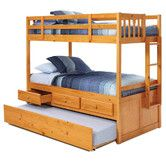 Found it at Wayfair - Twin over Twin Bunk Bed with Trundle and Storage