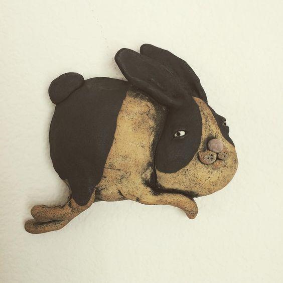 Jumping bunny #contemporaryceramics #klayworks #figurativesculpture #figuresinclay #ceramicsculpture #ceramics #kathleekelly #bunny #rabbit