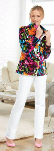 Jockey Person to Person Printed Twill Jacket & Modern Straight Leg Jean http://www.myjockeyp2p.com/easygoingclothing
