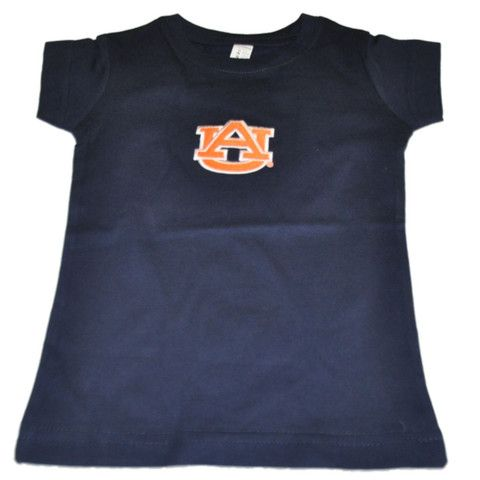Auburn Tigers Two Feet Ahead Toddler Girls Navy Long Length Cotton T-Shirt