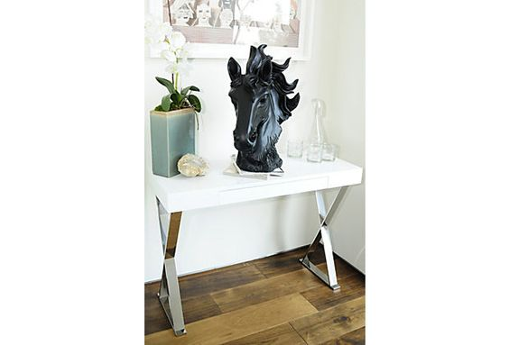 One Kings Lane - Home Base - Sorley X-Leg Console, White $479 (girls' room)