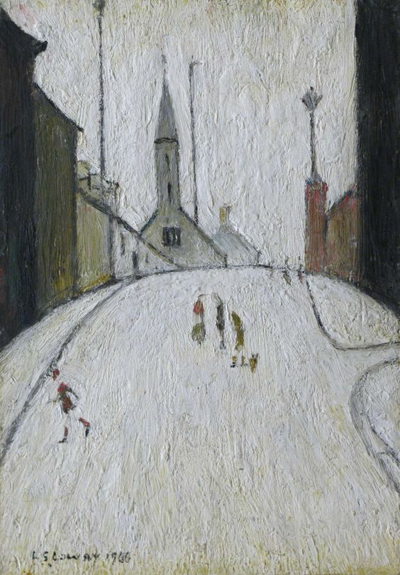 Church Street, Clitheroe1966 Laurence Stephen (L. S.) Lowry, UK 1887-1976 oil on panel 26 x 18 cm.