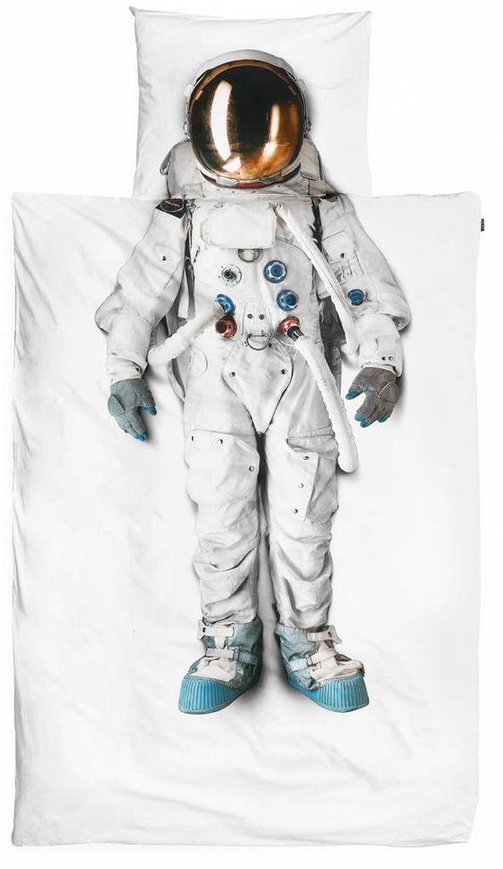 Snurk Beddengoed Dekbedovertrek Astronaut katoen 140x220cm: