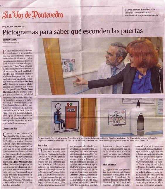 Pictogramas para saber que esconden las puertas.La Voz de Pontevedra