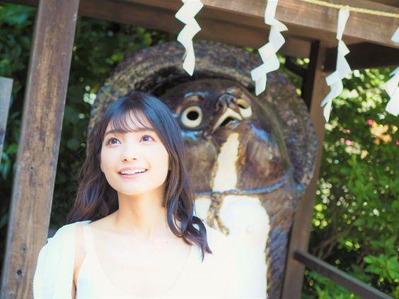 タヌキと高野麻里佳さん