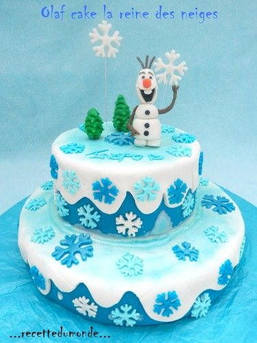 Olaf cake olaf and frozen cake on pinterest - Decoration gateau la reine des neiges ...