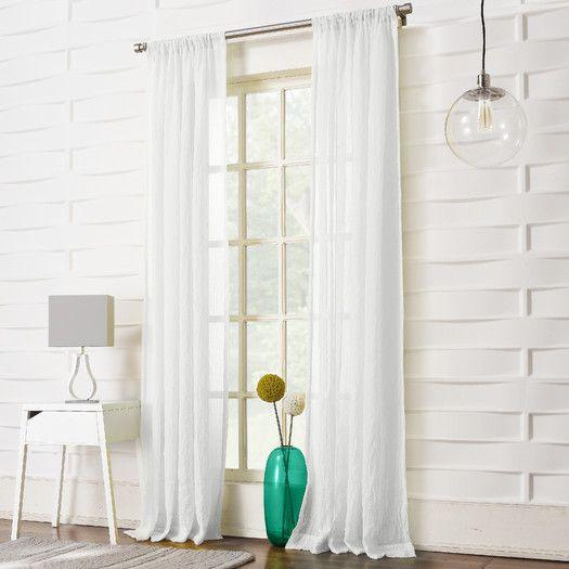 Leland Single Curtain Panel   Semplice, Negozi e Moderno