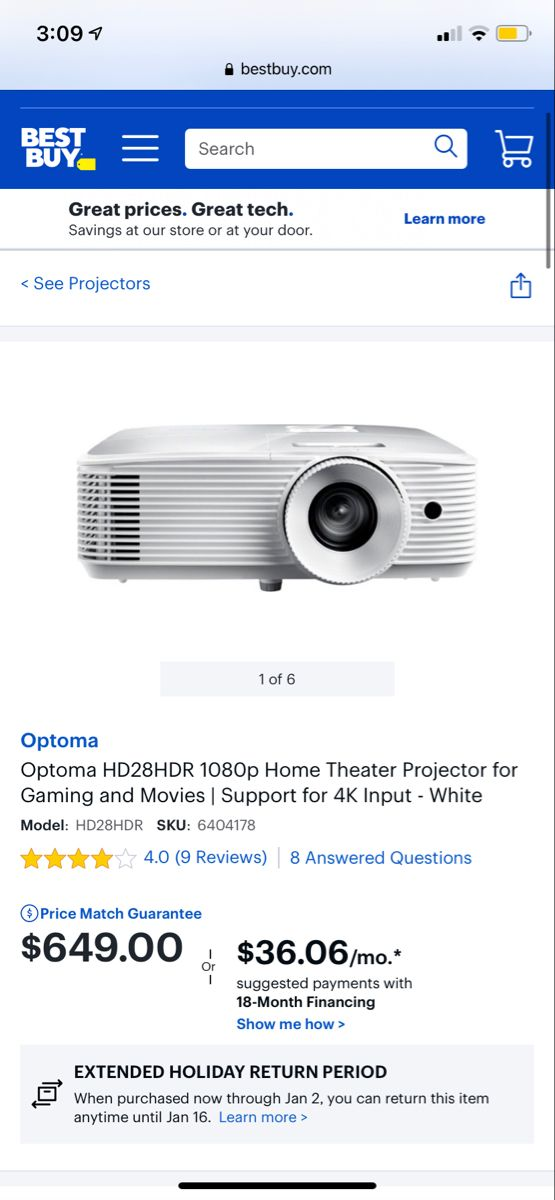 Optoma Hd28hdr 1080p Home Theater Projector For Gaming And Movies Support For 4k Input White Hd28hdr Best Buy Home Theater Cool Things To Buy Home Theater Projectors