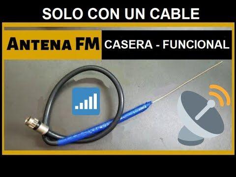 Antena Casera Para Radio Fm Antena Hd Antena Para Radio Hecha Con Solo 1 Cable Fácil Y Rápida Youtube Antena Hd Antenas Radio