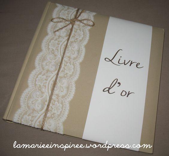 livre dor mariage dentelle beige et blanc faire part par la - Livre Sur Le Mariage