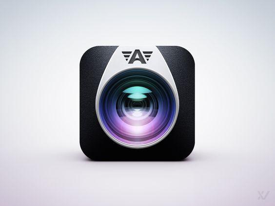 Dribbble - PREVIEW_-_Camera_Awesome_App_Icon_v2_by_Vilen.jpg by Vilen
