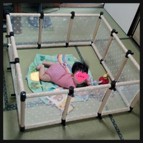 手作り ベビーサークル ストレートライフ ベビーサークル 赤ちゃん用家具 ベビールーム