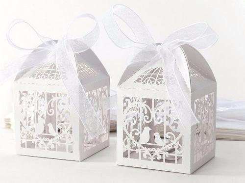 caixas rendadas passarinhos (10 unidades)