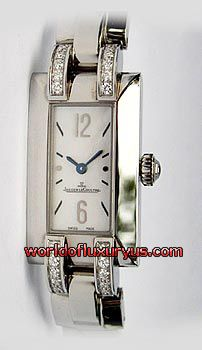 JAEGER-LECOULTRE - IDEALE CADRAN SERTI - Q4608522 (STAINLESS STEEL / MOTHER OF PEARL DIAL / LEATHER STRAP)