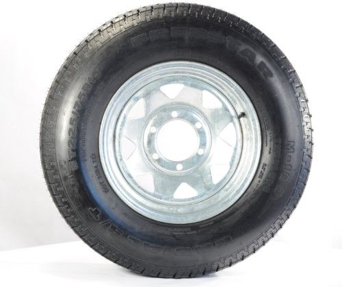 2 Pk Towmax Trailer Tires Rims St225 75r15e 2830 15x6 6 5 5 Spoke Galvanized