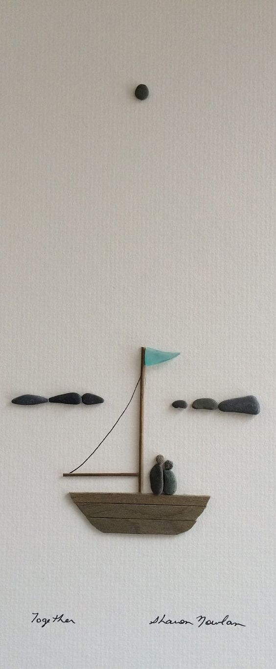 Arte em pedras de Sharon Nowlan.