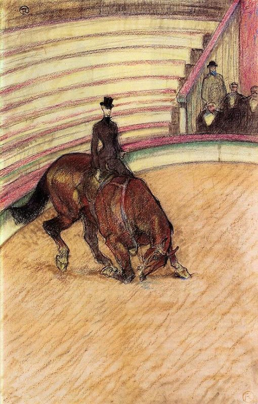 "Historic Horse Art: Toulouse-Lautrec ""At the Circus, Dressage"" on Cavalcade"