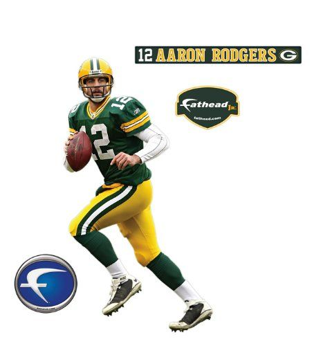 Green Bay Packers Aaron Rodgers Junior Wall Decal Fathead http://www.amazon.com/dp/B002QW3J0S/ref=cm_sw_r_pi_dp_Ez5Oub02BP7Y9