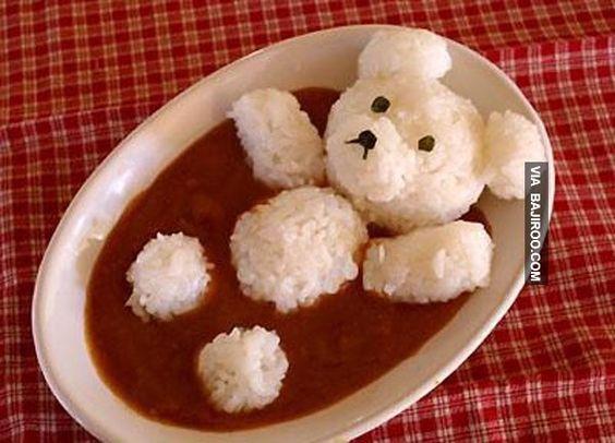 Ursinho na banheira: cremes, caldo de feijão, lentilha...