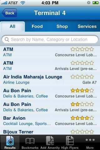 In Airports, Use GateGuru to Find the Best Food and Shops