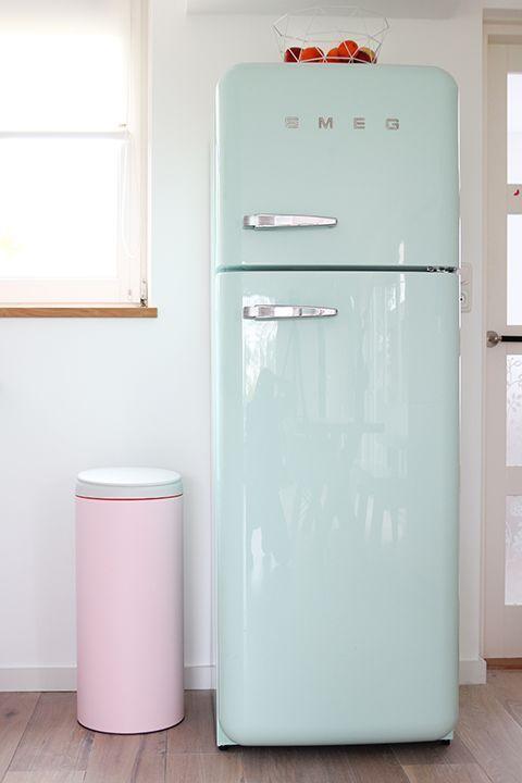 Mint Kitchen Smeg Fridge And Green Home Decor On Pinterest