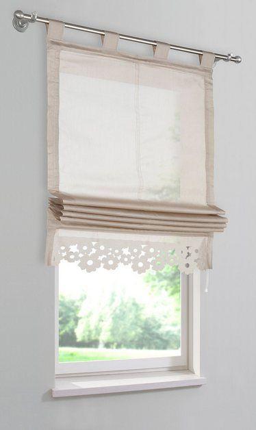 Raffrollo Venedig Mit Schlaufen In 2020 Raffrollo Selbstgemachte Vorhange Bauernhaus Wohnzimmer Dekor