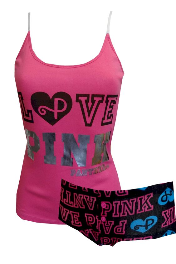 LOVE PINK Panther Hot Pink Shortie Pajama   Hot pink, For women ...