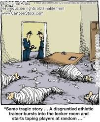 Image result for funny athletic training cartoons