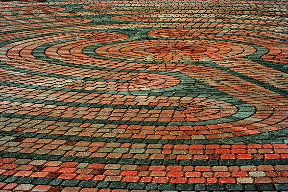 This labyrinth is right in front of First Christian Church.    Colorado Springs, Colorado.